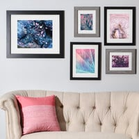 Geode Abstract Teal Gallery Wall Set