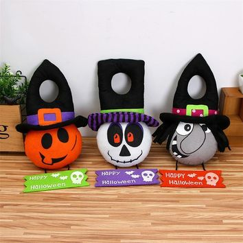 Halloween Decorations for Home Office Mall Hanging Ornaments Pumpkin/Witch/Ghost Dolls Plush Toy Stuffed Animal Toy Kids Gifts