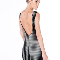 Stripe Up A Convo Open Back Dress