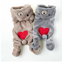 Chihuahua Teddy Dog Puppy Pet Jumpsuit Pajamas Warm Jacket Coat Clothes