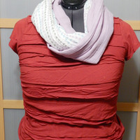 Infinity Scarf-Two Tone Infinity Scarf-Lightweight Circle Scarf-Women's Loop Scarf-Lightweight Women's Scarf-Double Gauze Infinity Scarf