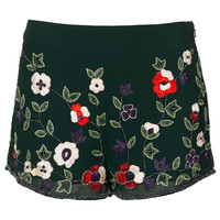 Green Embellished Shorts - New In This Week  - New In