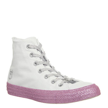 Converse Ctas Classic Hi Trainers Pink Dogwood Black - Hers trainers