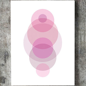 Geometric wall art, geometric print, wall art printable, geometric poster, abstract print, modern print, pink wall art, geometric printable