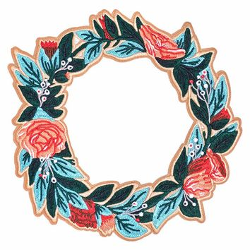 Floral Wreath Back Patch
