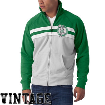 47 Brand Boston Celtics Gameday Track Jacket - Kelly Green/White