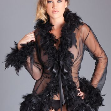 Be Wicked Sexy Lingerie BW834SBK Lux Robe