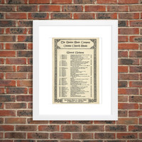 The Boston Music Company, Vintage Sheet Music, Octavo Church Music - 1900s Antique Anthems, Praise the Lord, O My Soul, Religious Wall Art