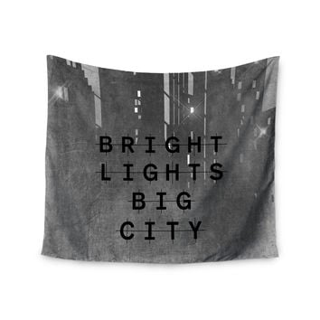 "Alison Coxon ""Bright Lights"" Dark City Wall Tapestry"