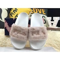 Baja East x Fila Collaborates to Create Plush Slippers Fashionable High Quality Shoes F-HAOXIE-ADXJ Apricot