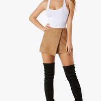 Suede-Y Business Skort