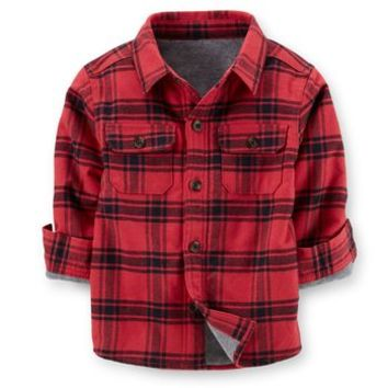 Sherpa-Lined Flannel Shirt Jacket