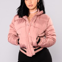 Mrs. Jackson Puffer Jacket - Light Pink