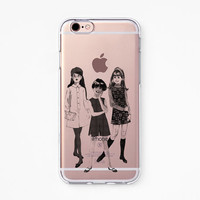 iPhone Rubber Case - Girls - iPhone 6s case, iPhone 6 case, iPhone 6s+ case, iPhone 6+ case - Clear Flexible Rubber Silicone case R02