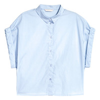 Short Cotton Shirt - from H&M
