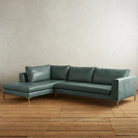 Premium Leather Edlyn Left Sectional