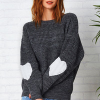 Cupshe Back To Love Heart Sweater