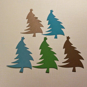 45 Curvy Christmas Tree for Scrapbooking, Card Making, Ornaments, Gift Tags, Christmas Decorations