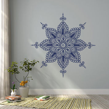 Wall Decal Mandala Vinyl Sticker- Mandala Vinyl Decal Morrocan Boho Bohemian Bedroom Decor- Indian Mandala Wall Art Yoga Studio Decor #40