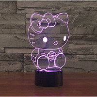 Hello Kitty Table Lamp 3D Nightlight
