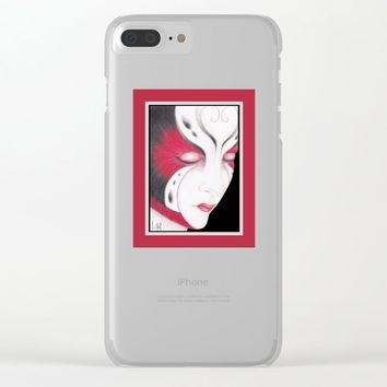 Butterfly Girl #4 Clear iPhone Case by drawingsbylam