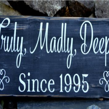 Wedding Sign Decor Rustic Wooden Signs Anniversary