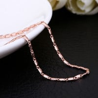 "18"" Rose Gold Flat Square Chain"