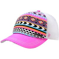 Empyre Girls Tribal Pink Trucker Snap Back Hat