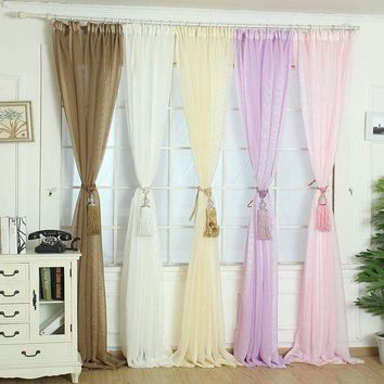 MDIGON Super Deal Elegant Tulle Door Window Curtain Drape Panel Sheer Scarf Valances XT