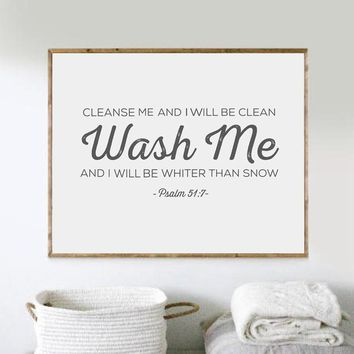 Laundry Wall Art Bible Verse Print Wall Pictures , Scripture Poster Canvas Painting Laundry Room Art Decor