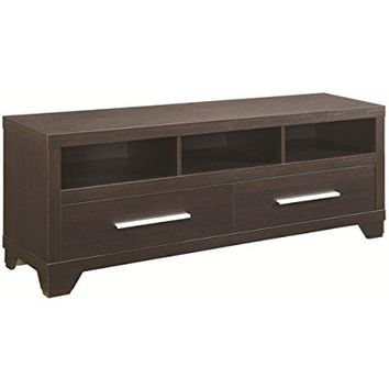 Coaster Home Furnishings 703301 Casual TV Console, Cappuccino