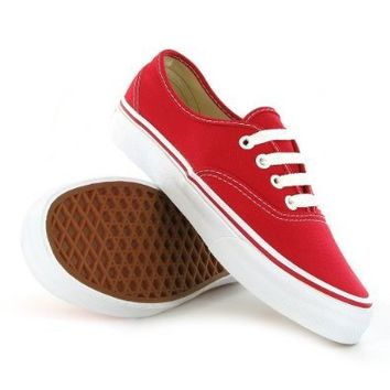 Vans Classic Authentic Red Womens Trainers Size 6 US