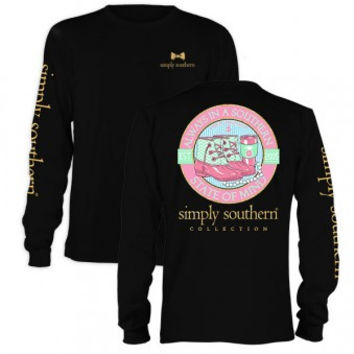 """Simply Southern """"Preppy State"""" Long Sleeve T-Shirt"""