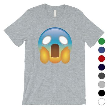 Emoji-Screaming Mens Shocked Funny Perfect Halloween T-Shirt Gift