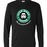 Cool star war coffee long sleeve T Shirt men 2017 spring autumn funny streetwear cotton tshirt homme hip-hop punk harajuku tees