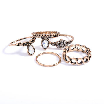 Anel Finger 10pcs/Set Ring Set Punk Gold Silver Rings for Women Female Fashion Knuckle Boho