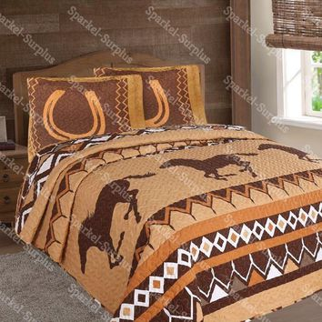 Horseshoe Western 3 Piece Bedding Set
