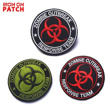 Embroidery Patch Zombie Outbreak Response Team Patches Personality Tactical Military Badge For Clothing Emblemas Biohazard Patch