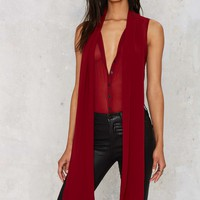 Nasty Gal Set You Free Pussybow Blouse - Red
