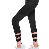 Cotton Mesh Legging - PINK - Victoria's Secret