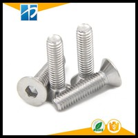 (10 pc/lot) M5,M6,M8 *L =8~50mm DIN7991 sus304 inox Hex socket flat countersunk head cap toy screw