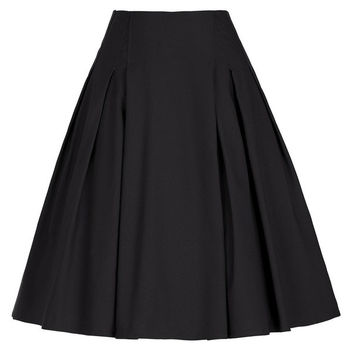 Sexy Mini Skirts Womens faldas saia 2017 Vintage Retro Women Solid Color High Stretchy Ladies Black Red Short Pleated Skirt