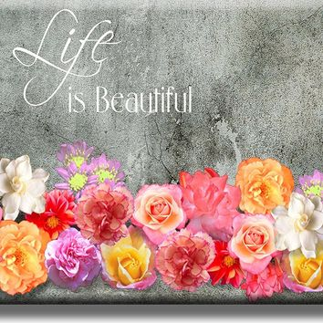 Life is Beautiful Picture on Acrylic , Wall Art Décor, Ready to Hang