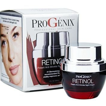 Progenix Profesional Skin Care Retinol Anti-Wrinkle Night cream for fine lines, deep wrinkles, sun damaged...