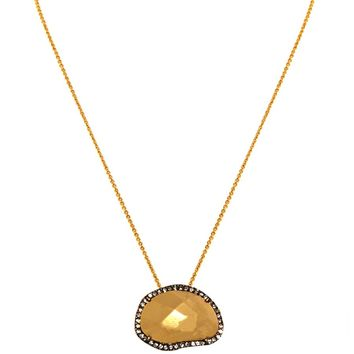 House of Harlow 1960 Jewelry Sahara Sand Pendant Necklace