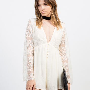 Victorian Lacey Romper - Large