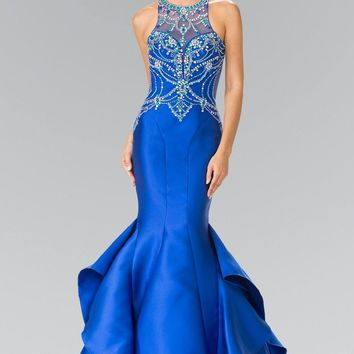 Backless Mermaid Prom dress #gl2357