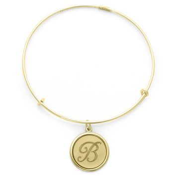 Alex and Ani Precious Initial B Charm Bangle - 14kt Gold Filled