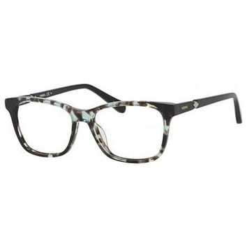 Fossil - Fos 7033 53mm Havana Green Black Eyeglasses / Demo Lenses