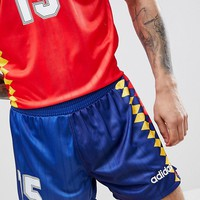 adidas Originals Retro Spain Football Shorts In Navy CD6971 at asos.com